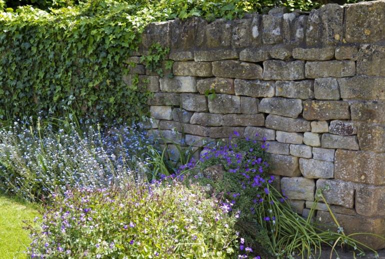 limestone garden wall