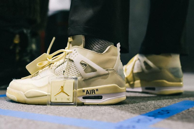 """Off-White x Air Jordan 4 """"Sail"""" will be released on July 25th"""