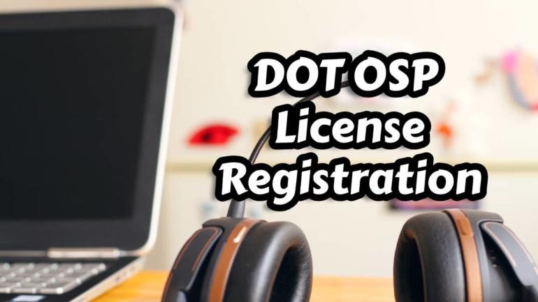 dot osp license registration