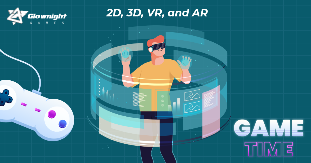 2D, 3D, VR, and AR