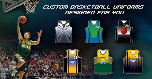 custom basketball team uniforms