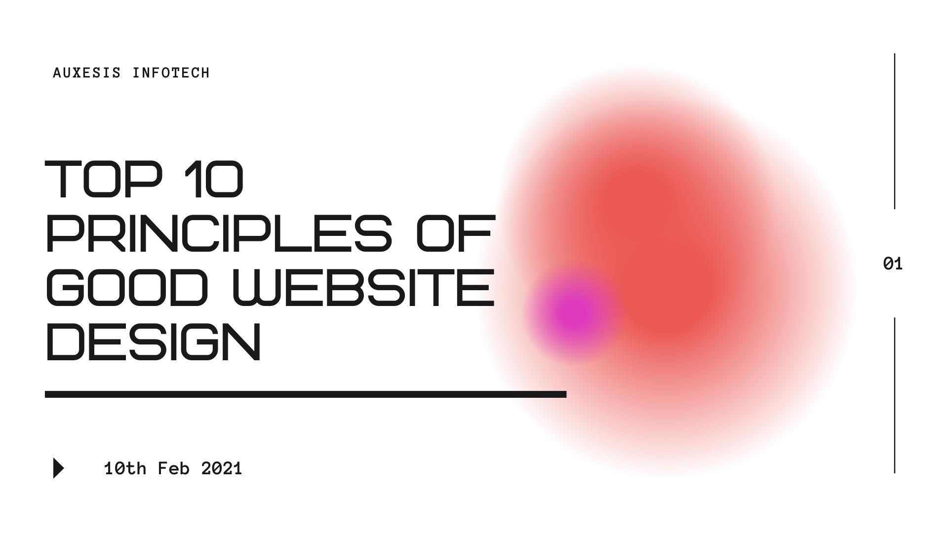 Top 10 Principles Of Good Website Design